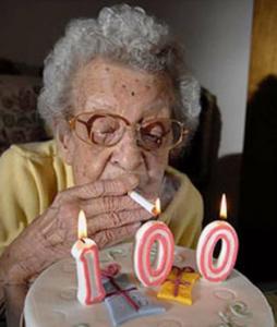 Fumer des cigarettes jusqu'à 100 ans