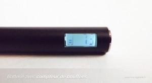 Batterie avec compteur de bouffées