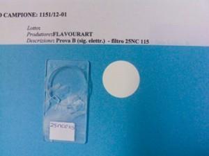 Filtre à air d'une pièce exposée à la vapeur des cigarettes électroniques (1,5ml de e-liquide)