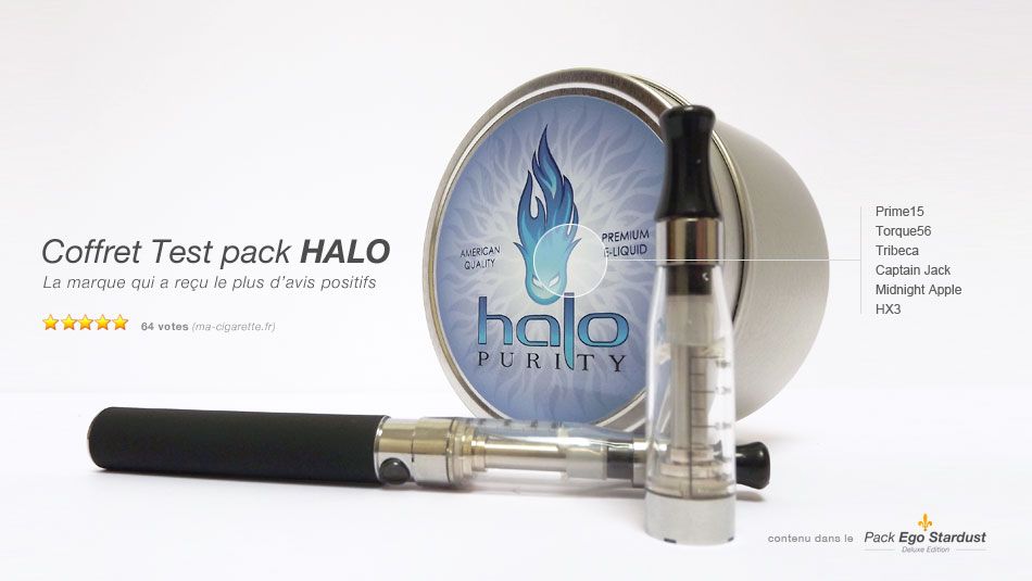 Test pack de e-liquide Halo