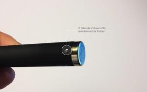 Fixation de la batterie sur l'eCab Clearomizer