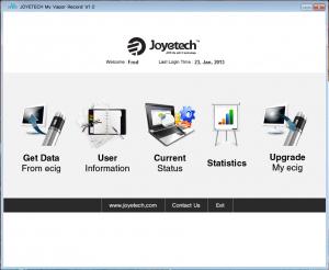 Différents menus du logiciel