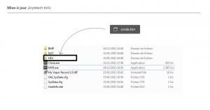 Pour mettre à jour l'appareil il suffit de télécharger un petit fichier sur le site de Joyetech et de le placer au bon endroit.