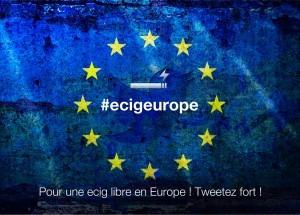 Sur Twitter, utilisez le hashtag #ecigeurope pour publiquement défendre le statut de la cigarette électronique en Europe