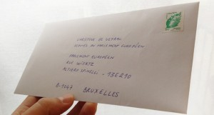 Ma lettre à Madame De Veyrac, vaporisée d'amour et prête à partir pour Bruxelles ...