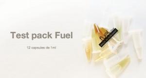 Le test pack Fuel comprend 12 saveurs dans des capsules de 1ml chacune