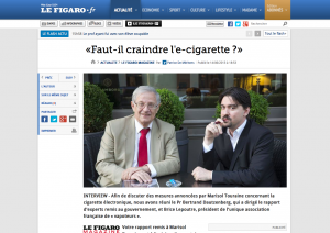 Faut-il craindre l'e-cigarette ? sur lefigaro.fr