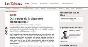 Qui a peur de la cigarette électronique ? sur Les Echos