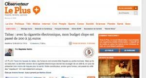 """""""Mon budget clope est passé de 200 à 35 euros"""" sur Le Nouvel Obs"""