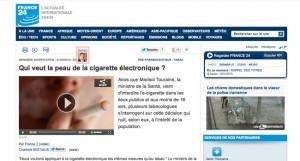 Qui veut la peau de la cigarette électronique ? sur France 24