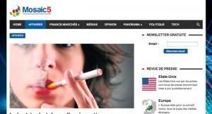 """""""Industrie du tabac : l'e-cigarette comme solution ou problème ?"""" sur mosaic5.com"""