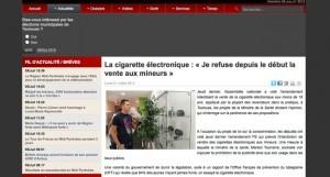 La cigarette électronique : « Je refuse depuis le début la vente aux mineurs » sur toulouseinfos.fr