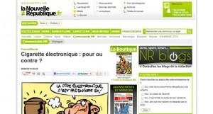 Cigarette électronique : pour ou contre ? sur lanouvellerepublique.fr