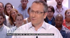 Thomas Laurenceau (60 millions de consommateurs) sur le plateau du Grand Journal de Canal+ le mardi 27 août 2013