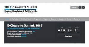 E-Cigarette Summit 2013 : le rendez-vous scientifique de la cigarette électronique aura lieu le 12 novembre à Londres