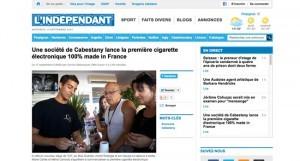 Le scoop de la vapote 2013 reviendrait-il au site L'indépendant.fr ?