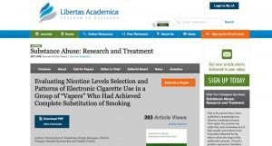 Une récente étude s'est intéressée au rôle de la nicotine dans l'usage de la cigarette électronique en tant que substitut complet.