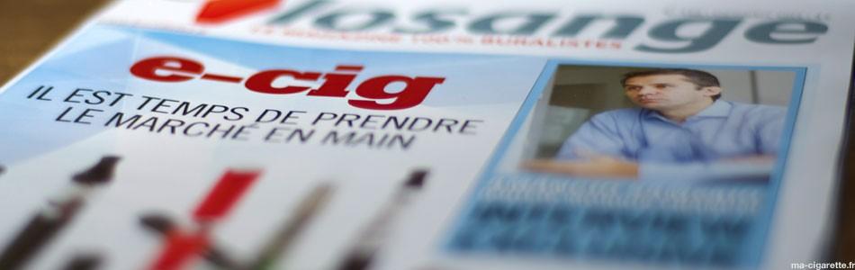 """Numéro du magazine Losange du mois de Septembre 2013 : """"Ecig : il est temps de prendre le marché en main""""."""