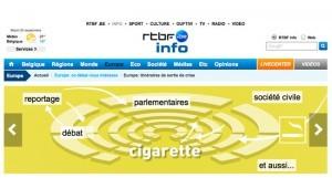 """""""Réglementer plus strictement le tabac: un enjeu majeur de santé au Parlement européen"""" - publié sur le site rtbf.be"""