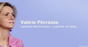 Valérie Pécresse souhaite assimiler la cigarette électronique à la cigarette de tabac et l'encadrer selon les mêmes principes.