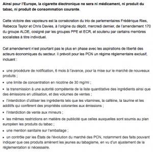 Le site Atlantico explique les détails de de l'amendement 170 du groupe ALDE, cosigné par les groupes PPE et ECR.