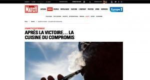 """""""Après la victoire… la cuisine du compromis"""" sur parismatch.com"""