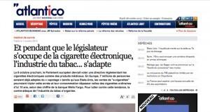 """""""Pendant que le législateur s'occupe de la cigarette électronique, l'industrie du tabac ... s'adapte"""" sur Atlantico.fr"""