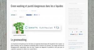 Le site du projet E-steam relance le débat sur la glycérine végétale et dénonce une certaine pratique commerciale