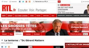 """Le docteur Gérard Mathern est intervu dans l'émission de Philippe Bouvard """"Les grosses têtes"""" sur RTL."""