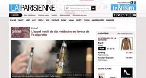 """""""L'appel inédit de dix médecins en faveur de l'e-cigarette"""" sur Leparisien.fr"""