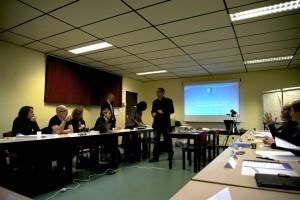 Yann Wilmotte en train de faire une introduction de la première journée de formation.