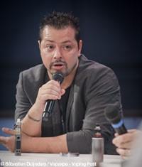 Mickael Hammoudi ici en septembre 2016 au salon Vapexpo de Paris.
