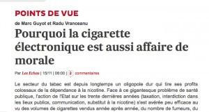 Deux économistes français abordent le sujet de la cigarette électronique sous l'angle de la morale