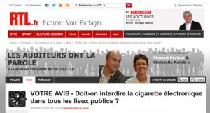 """Sondage RTL : """"Doit-on interdire la cigarette électronique dans tous les lieux publics ?"""""""