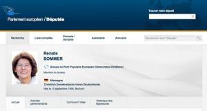 Renate SOMMER - Groupe du Parti Populaire Européen (Démocrates-Chrétiens)