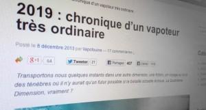 """""""2019, chronique d'un vapoteur très ordinaire"""" : un article à lire sans plus attendre sur le site de l'AIDUCE."""