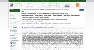 Étude Farsalinos sur Int. J. Environ. Res. Public Health