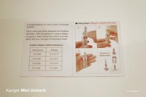 L'Unitank est livré avec une notice de montage relativement simple à comprendre