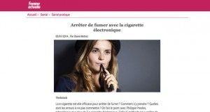 Arrêter de fumer avec la cigarette électronique sur Femme Actuelle