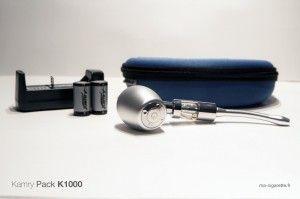 Le pack Kamry K1000 : une e-pipe et ses accessoires
