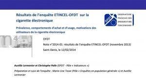Résultats de l'enquête ETINCEL-OFDT sur la cigarette électronique