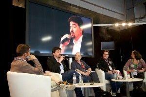 De gauche à droite : Ghyslain Armand (ma-cigarette.fr), Brice Lepoutre (AIDUCE), Renaud de Boudemande (FIVAPE), Matt la Vape (reviewer) et Nathalie Dunand (EFVI)