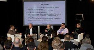 De gauche à droite : Ghyslain Armand, Arnaud Dumas de Rauly, Gérard Mathern, Peter Beckett, Mickaël Hammoudi.