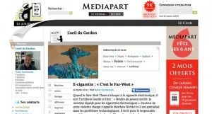 """E-cigarette : « C'est le Far-West »"" par Marc Schindler sur http://blogs.mediapart.fr"