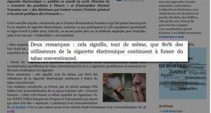 """""""Fivape : une enquête qui tombe à point … et qui confirme"""" sur lemondedutabac.com"""