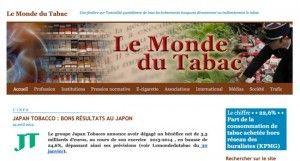 """Lemondedutabac.com : """"fenêtre ouverte sur toute l'actualité concernant, à un titre ou à un autre, le tabac"""""""