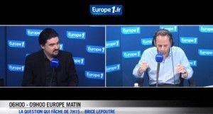 Brice Lepoutre invité d'Europe 1, vendredi 2 mai 2014.