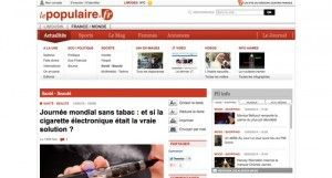 """""""Journée mondial sans tabac : et si la cigarette électronique était la vraie solution ?"""" sur LePopulaire.fr"""