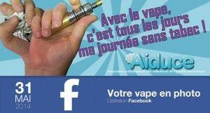 Le 31 mai, journée mondiale sans tabac, sera l'occasion pour les vapoteurs de montrer que la vape les écarte du tabac.