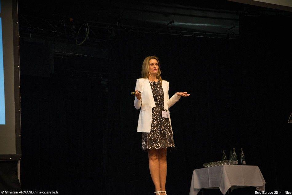 Patricia Kovacevic, spécialiste juridique pour le cigarettier Lorillard.